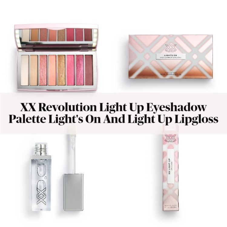 XX Revolution Light Up Eyeshadow Palette Light's On And Light Up Lipgloss