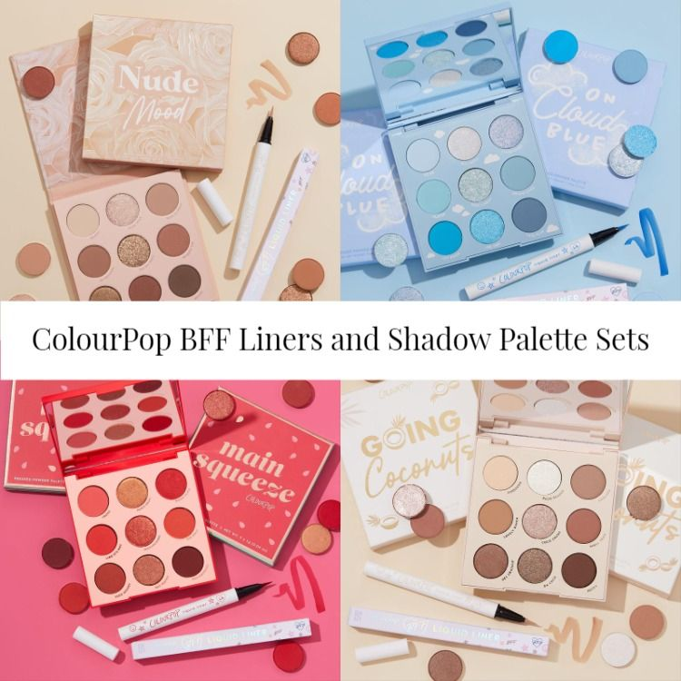ColourPop BFF Liners and Shadow Palette Sets - Chili, Honey, and Sky High