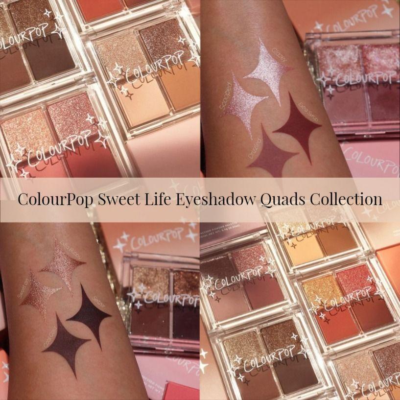 Sneak Peek! ColourPop Sweet Life Eyeshadow Quads Collection
