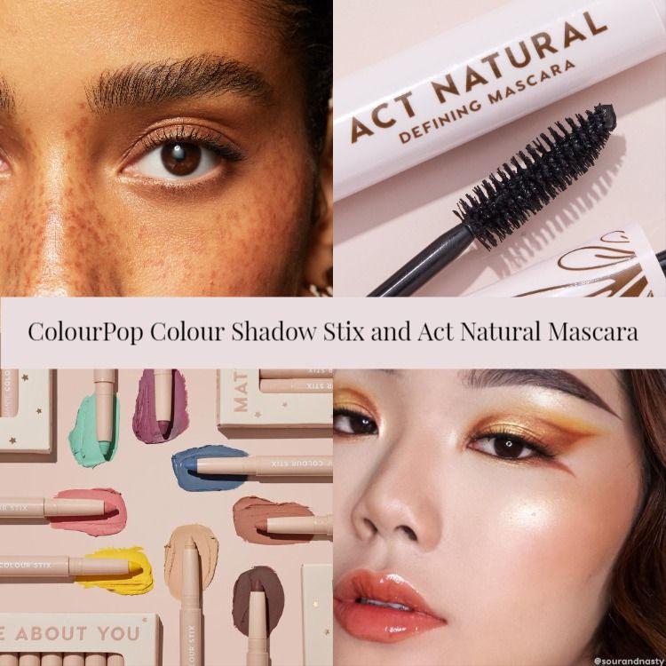 ColourPop Colour Shadow Stix and Act Natural Mascara