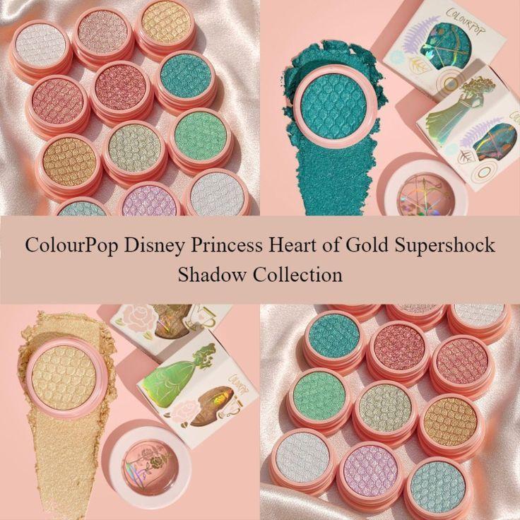 ColourPop Disney Princess Heart of Gold Supershock Shadow Collection