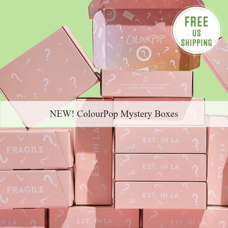 New ColourPop Mystery Boxes!  Available Now!