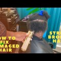 Easy pointers on how to fix broken hair| Easy pointers on how to mix hair breakage | Hair breakage from stress