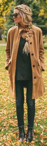 Trança simplesmente maravilhosa (e casaco também)
