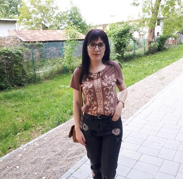 bluza cu imprimeu bonprix