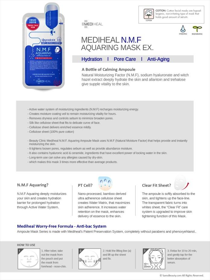 Mediheal - N.M.F Aquaring Ampoule Mask EX. Mask