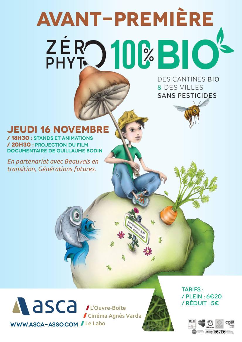 "Ciné-rencontre ""Zéro phyto, 100% bio"" à l'ASCA"
