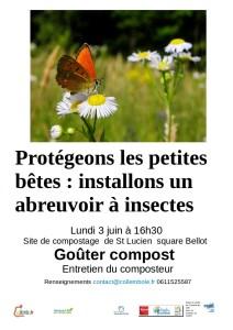 Fabrication d'abreuvoir à insectes @ Site de compostage St Lucien   Beauvais   Hauts-de-France   France