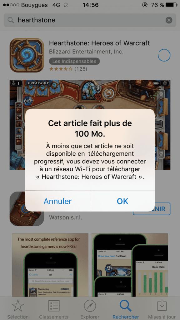 Limitation de téléchargement AppStore