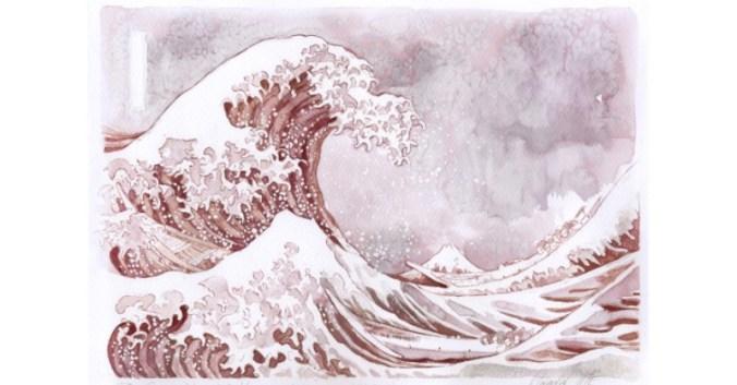 Blog Beaux-Vins dégustation oenologie vin peindre peinture Sanja Jankovic artiste La Grande Vague de Kanagawa
