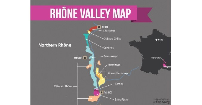 blog vin Beaux-Vins vignoble vins carte nord septentrional Vallée du Rhône oenologie dégustation histoire