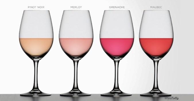 blog vin couleurs cépages rosé beaux-vins oenologie dégustation vins