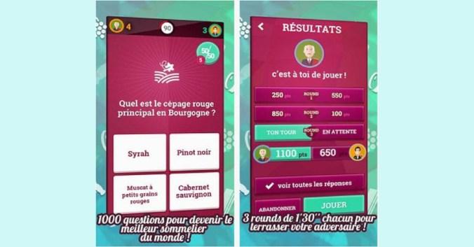 blog vin Beaux-Vins application applications 2019 smartphone oenologie Quiz du VIN RVF