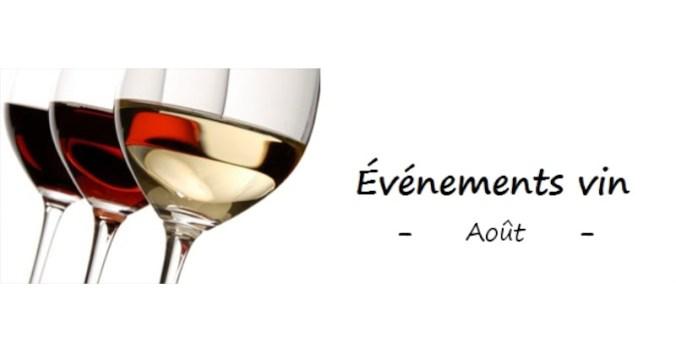 événement vin Aout