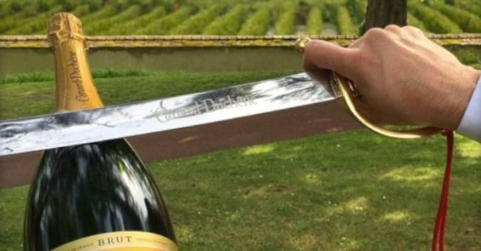 blog vin beaux-vins champagne sabrer correctement