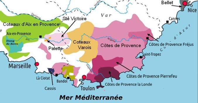 blog vin beaux-vins carte vignoble provence