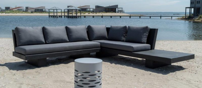 Betonlook lounge - Base XLight - Zwart