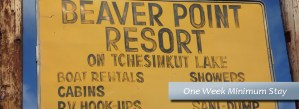 Beaver Point Resort One Week Minimum Stay