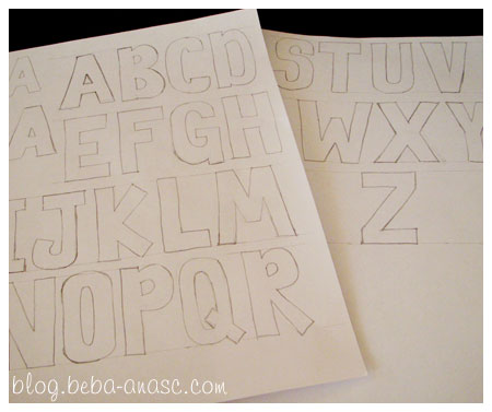 ABC-Z on plain A4 papers..