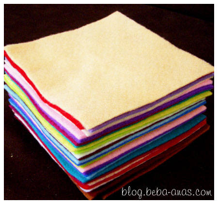 30 Pieces of Wool Felt