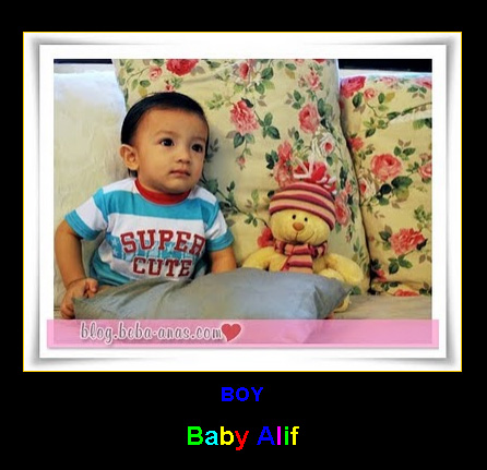 alif cute in blue