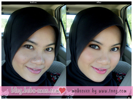 before and after make over