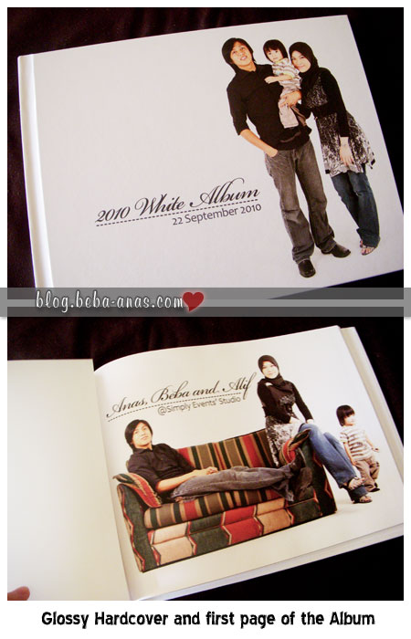 photobook front cover and 1st page