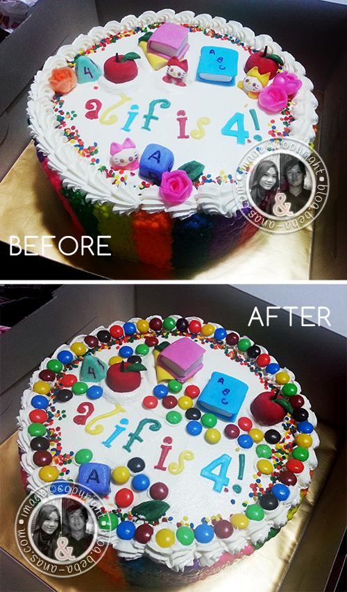 alif is 4 birthday cake