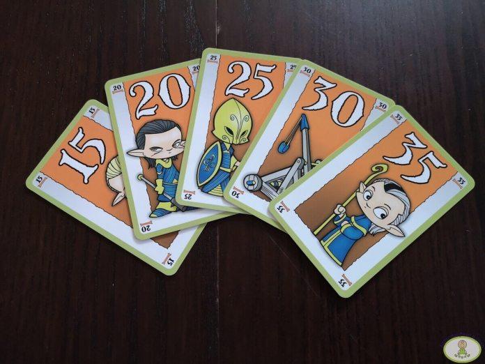 cinco cartas consecutivas de la misma raza