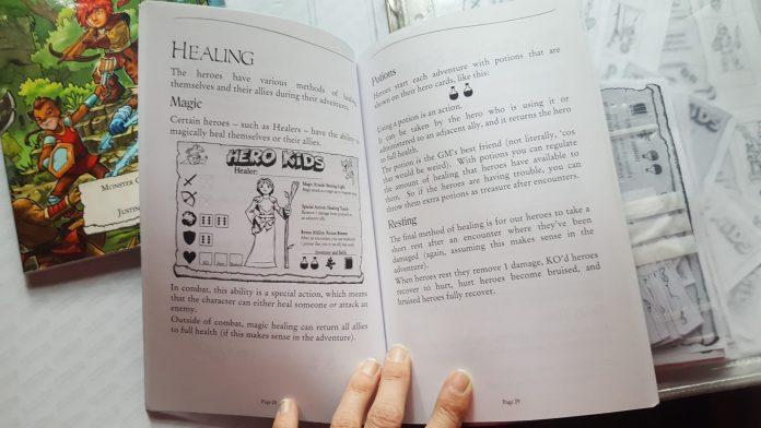 Fichas de personaje Guerrero juego de rol Hero Kids RPG