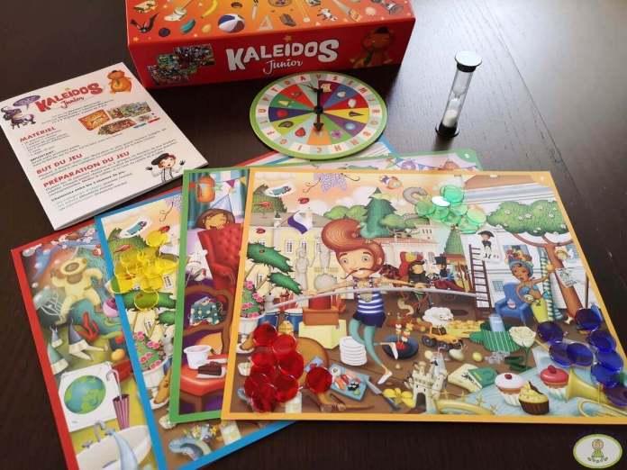 componentes juego de mesa Kaleidos junior