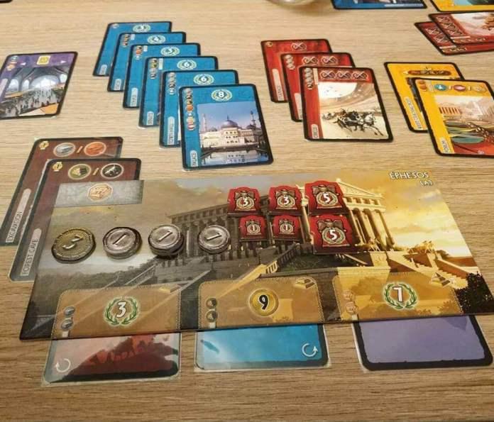 jugando a 7 Wonders
