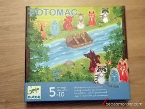 caja del juego de mesa Potomac de Djeco