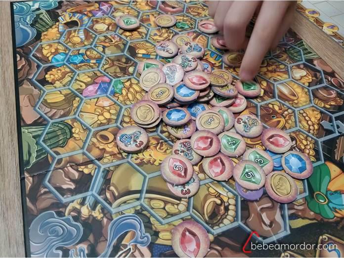 preparación juego de mesa Aladino