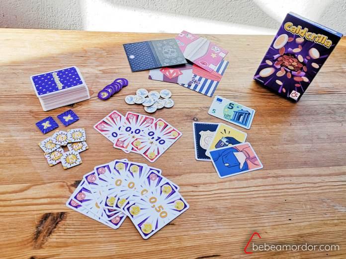 componentes del juego de mesa calderilla de mercurio
