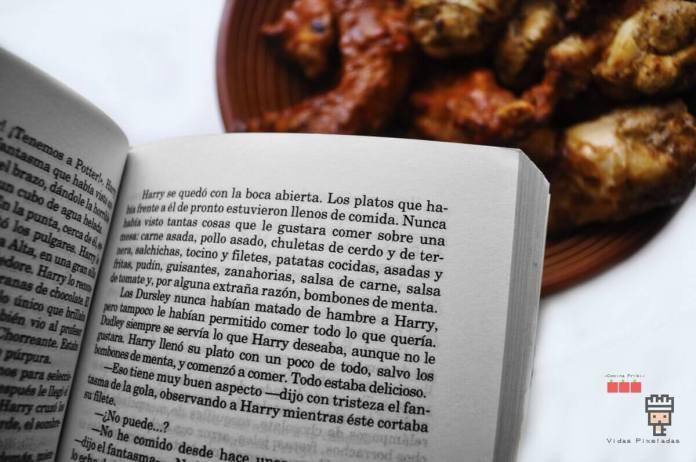 harry potter (libro piedra filosofal) y recetas de cocina friki