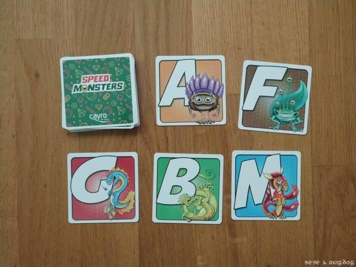 tipos de cartas juego de mesa Speed Monsters