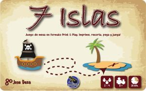 juego de mesa imprimible 7 islas
