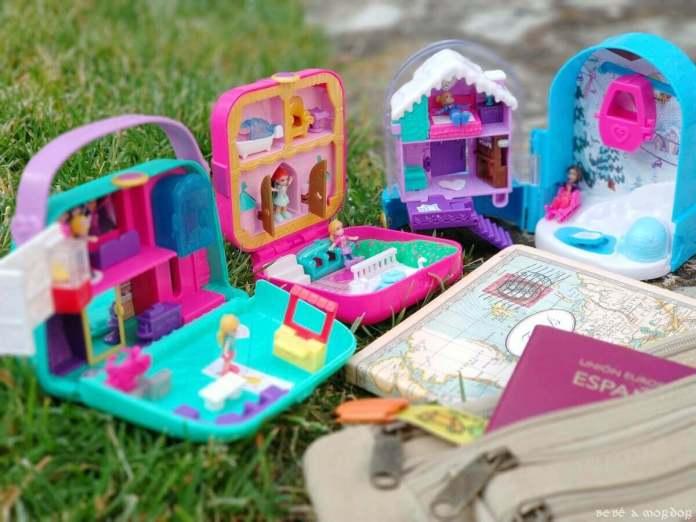 cofres de Polly Pocket para viajar con niños