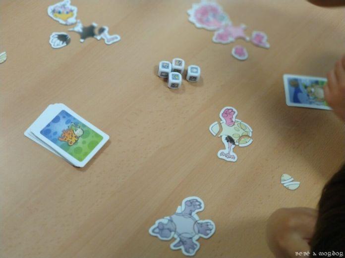 combinaciones de puzle juego de mesa Baby Dino de avestruz con huevo con dinosaurio