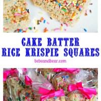 Surefire Bake Sale Item: Cake Batter Rice Krispies With Sprinkles