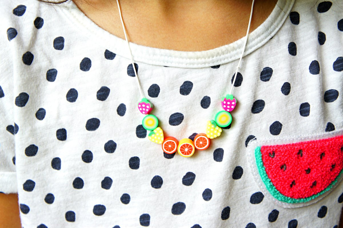 Summer Fruit Bead Necklace Craft
