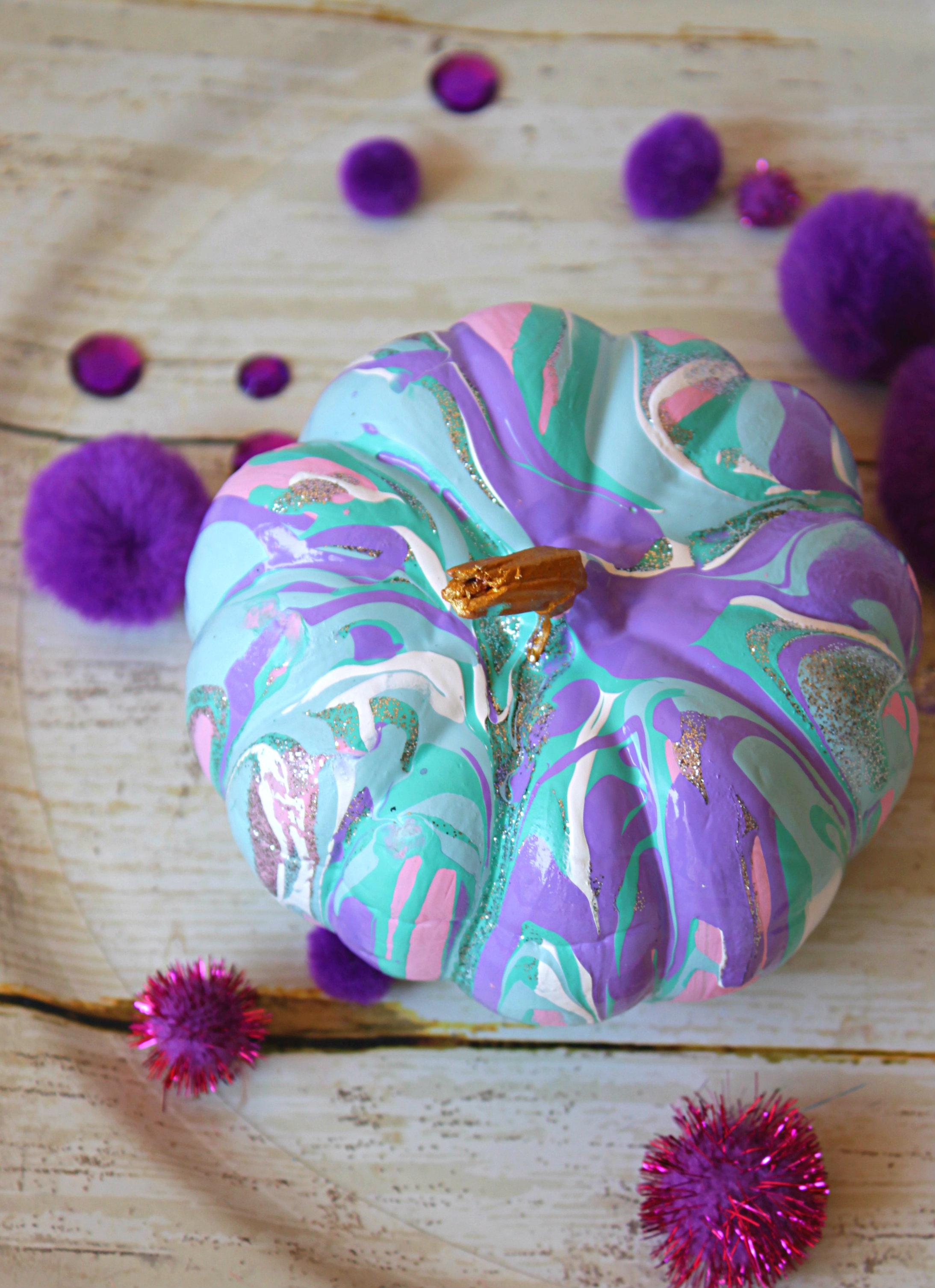 Easy No Carve Drip Paint Pumpkins