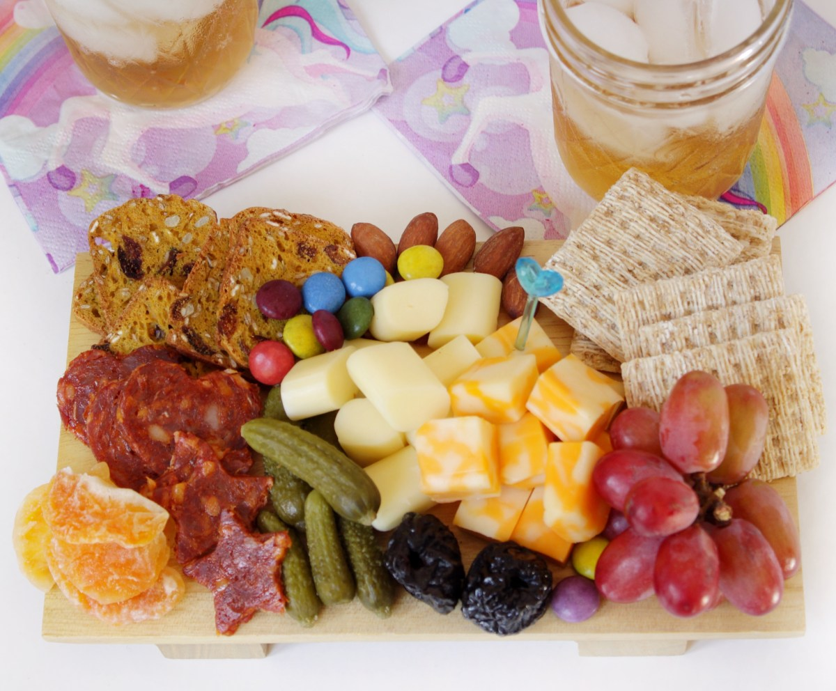 Cheese board, snack board for kids.