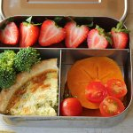 Bento box Lunch Series: Quiche and Seasonal Fruit