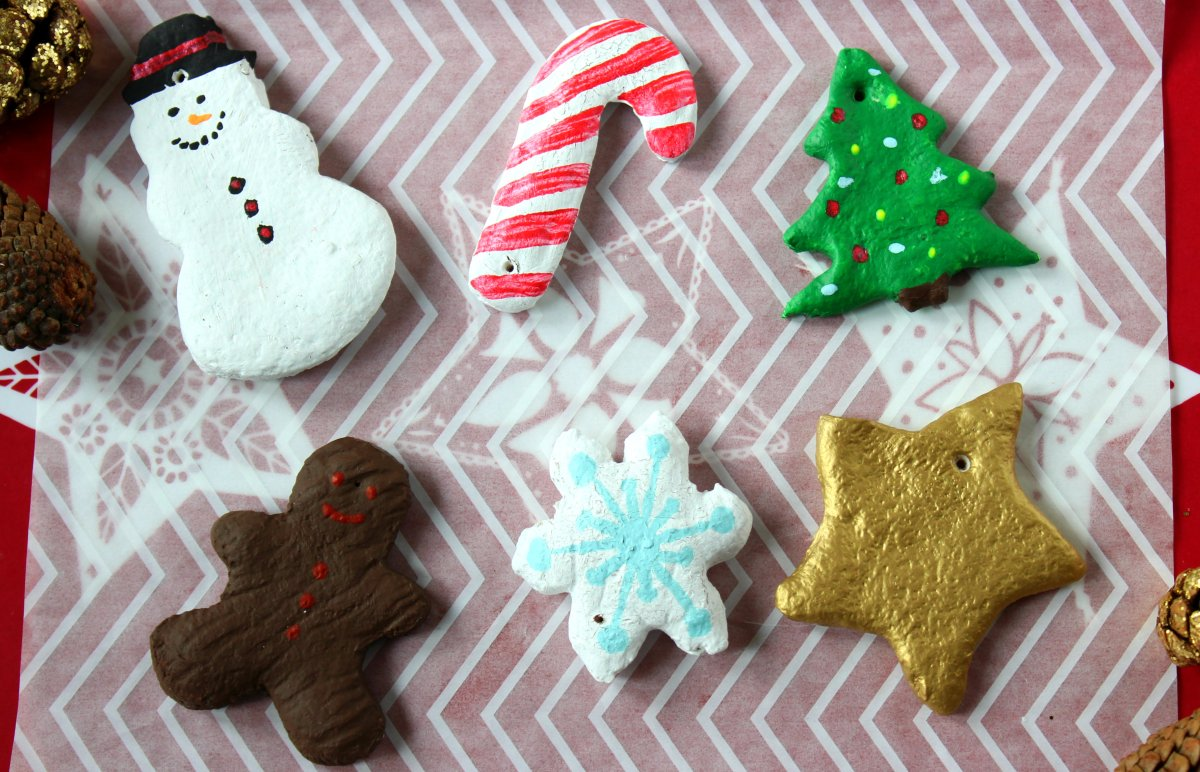 Christmas Cookie Cutter Salt Dough Ornaments