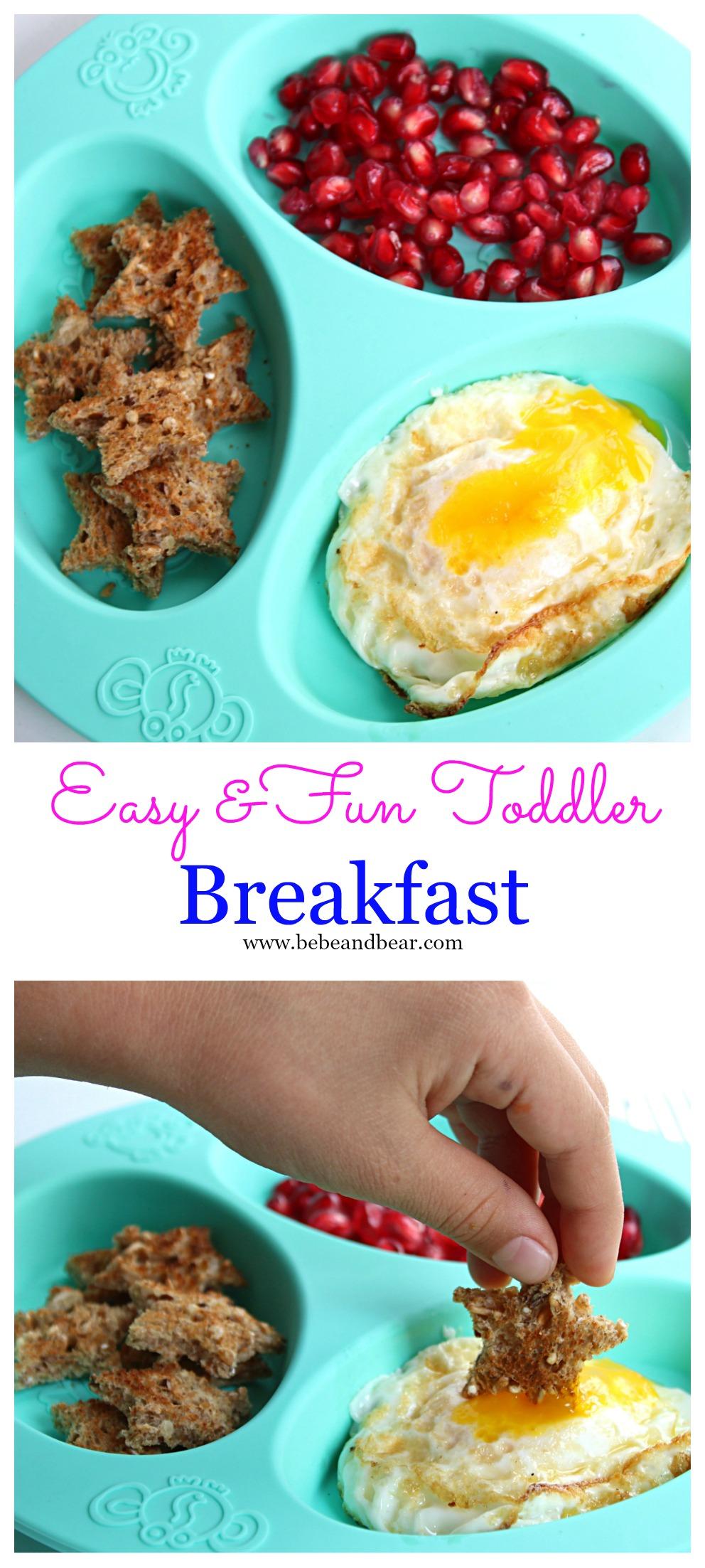 Easy Healthy Breakfast Idea for toddlers and kids. How to cook the perfect over easy egg.