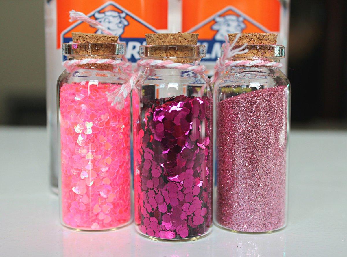 Pink Glitter Valentine Slime