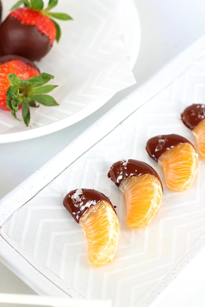 chocolate covered oranges with sea salt flakes