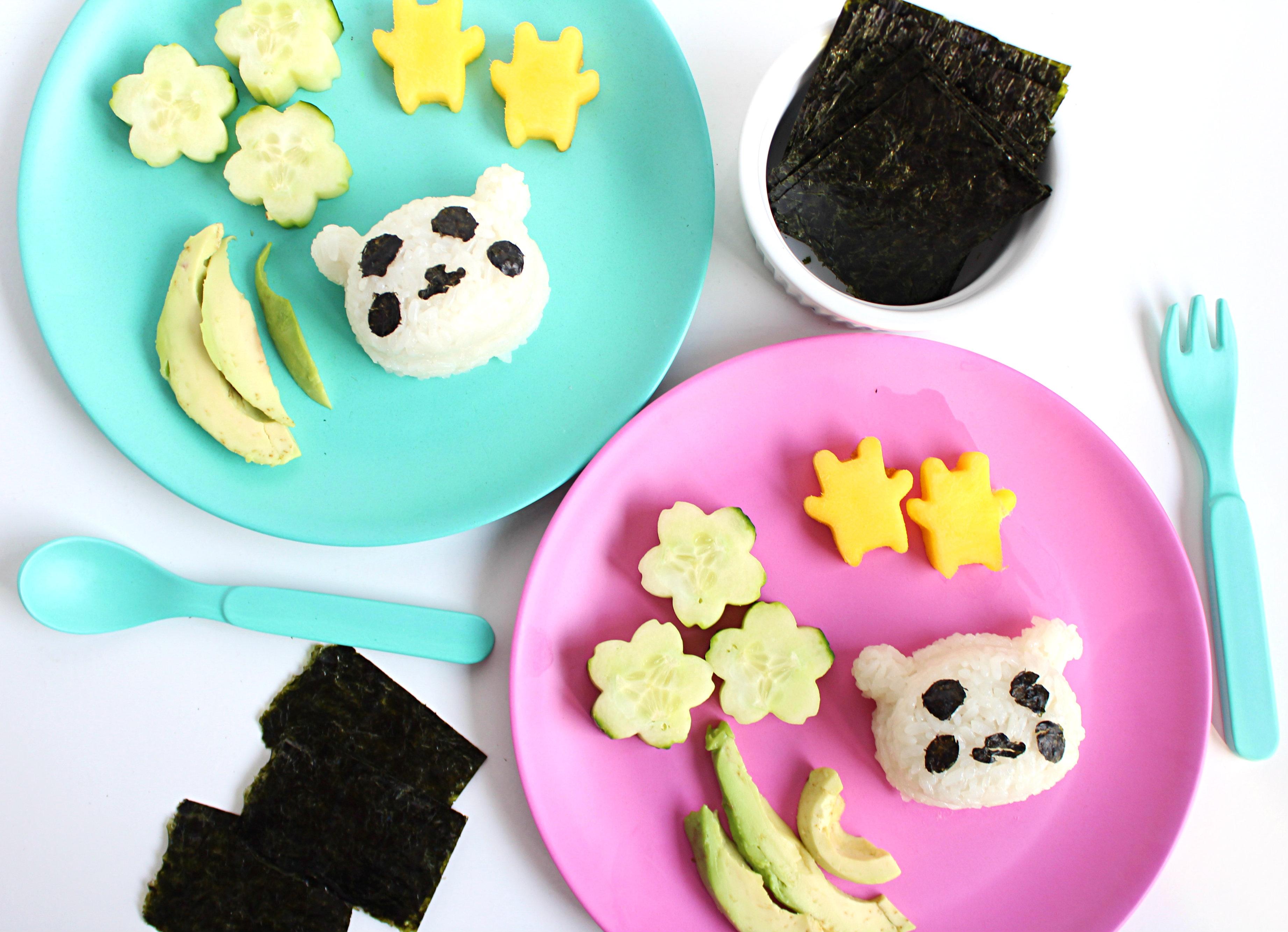 DIY Panda sushi for kids and toddlers.